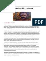 [Dacal Díaz] La Nueva Constitución Cubana