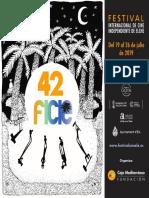 42 Festival Internacional de Cine Independiente de Elche. Cartel
