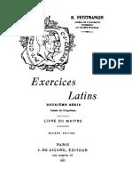 Exercices latins. Deuxième série. Livre du maître.