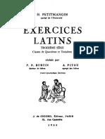 Exercices latins. Troisième série.