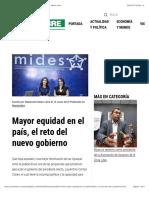 Mayor equidad en el país, el reto del nuevo gobierno - Metro Libre