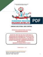 BASES DE CAS N° 005-2019 SEDE CENTRAL DEL GOBIERNO REGIONAL DE HUANCAVELICA