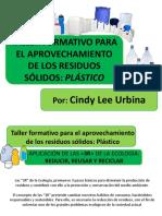 taller de reciclaje sobre el plastico