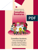 Conselhos escolares -  uma estratégias de democratica da educação pública