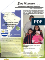 Boletin 187 Informe Misionero de Uruguay . Octubre 20 de 2010