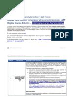 Interpretaciones Sancionadas IATF Reglas Español