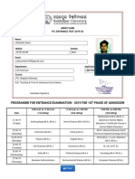 Roshan Admit Card