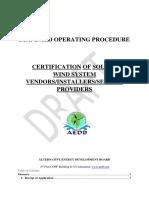 DraftSTANDARDOPERATINGPROCEDURECERTIFICATIONOFVENDORS (1)