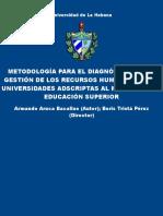 Metodologia Para El Diagnostico - Aruca Bacallao, Armando