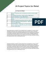 MBA Topics for Retail.docx