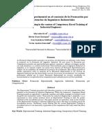La Formación Experimental en el contexto de la Formación por Competencias de Ingenieros Industriales