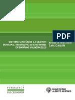 60 Sistematizacion de La Gestion Municipal en Seguridad Ciudadana en Barrios Vulnerables Informe de Resultados San Joaquin