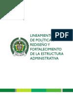 74 Lineamiento de Politica 3 Rediseño y Fortalecimiento de La Estructura Administrativa