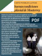 21-06-19 Supervisa buenas condiciones en drenaje pluvial de Monterrey