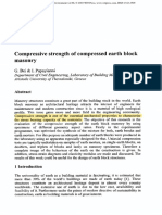 Compressive Strength of Compressed Earth Block Masonry. Transactions on the Built Environment