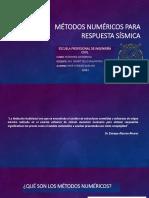 Métodos Numéricos Para Respuesta Sísmica