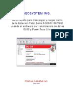 manual estacion de topografia pentax