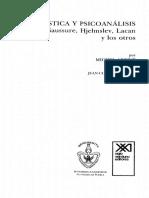 Michel Arrivé - Lingüística y psicoanálisis. Freud, Saussure, Hjelmslev, Lacan y los otros.pdf
