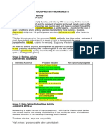 Group Activity Worksheets