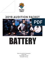 Audition Packet Battery 2019