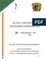 Actos Contratos y Sociedades Mercantiles