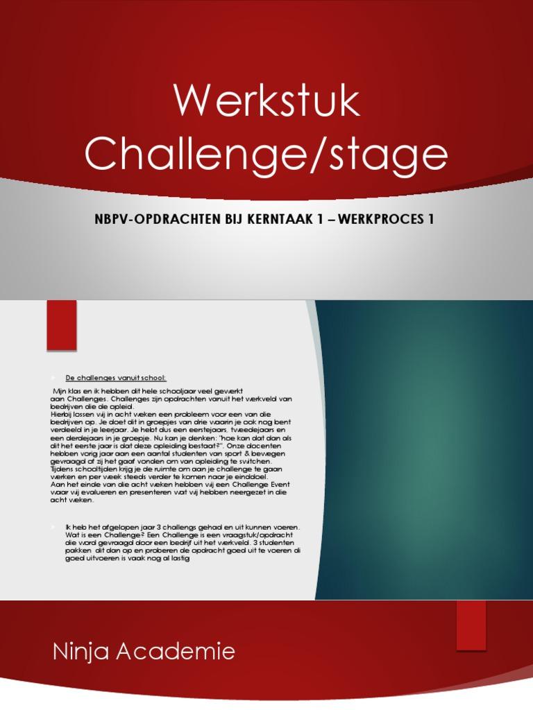 Stage Challenge Werkstuk