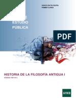 Historia de La Filosofía Antigua I