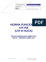 NORMA FUNCIONAL UVI INS (UVI III HUCA)