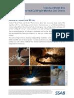 SSAB Cutting of Hardox and Strenx V2 2016