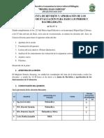 Acta de La Junta de Revisión y Aprobación de Los Instrumentos de Evaluación Bachillerato 2018-2019