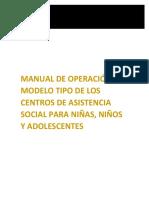Manual de Operacion Del Modelo Tipo de l