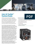 TacNet Tactical Radio Data Sheet