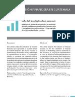La Inclusión Financiera en Guatemala. Comparación Con Centroamerica