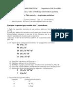 Química General CLASE PRACTICA 1 Ingeniería Civil