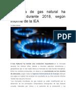 Demanda de gas natural ha crecido durante 2018.docx