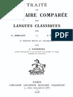 Traité de grammaire comparée des langues classiques