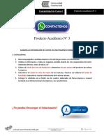 Contabilidad de Costos I Producto Académico N°3