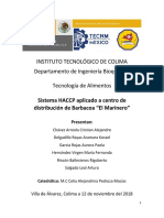 Proyecto Haccp - El Marinero