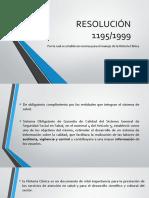 RESOLUCIÓN 1195 Historia Clinica