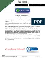 MATEMÁTICA 2.0 Producto Académico N°3
