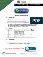 Pruebas y Calidad de Software Producto Académico N°3