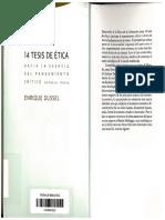 14 Tesis de Ética - Enrique Dussel