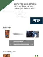 Comparación Entre Unión Adhesiva Epóxica y Mecánica Soldada