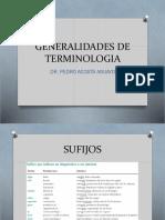 Generalidades de Terminologia