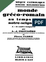 Le Monde gréco-romain au temps de Notre Seigneur - I Le Cadre Temporel.