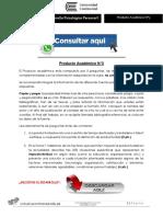 DESARROLLO PSICOLÓGICO PERSONAL PRODUCTO ACADÉMICO N°3