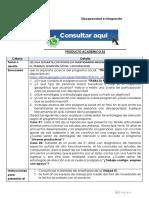 DISCAPACIDAD E INTEGRACIÓN PRODUCTO ACADÉMICO N°3