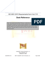 ISO 9001 2015 Requirements a to Z Desk Reference