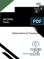 Informe de la Contraloría sobre el Transantiago