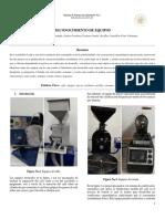 Reconocimiento de equipos en industrialización de café